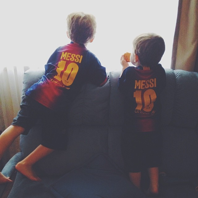 // TWO #MESSI BOYS